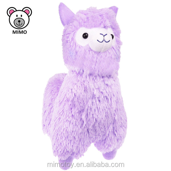 Eco-friendly Pretty Purple Alpaca Plush Toy 2018 Wholesale Cheap 8'' Kids Cartoon Soft Toy Stuffed Animal Plush Llama