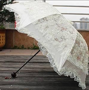 6fe1ae6c8 Get Quotations · Fashion lace umbrella, Lace Umbrella Wedding Parasol for Bridal  vintage lace parasol for Bridesmaid,