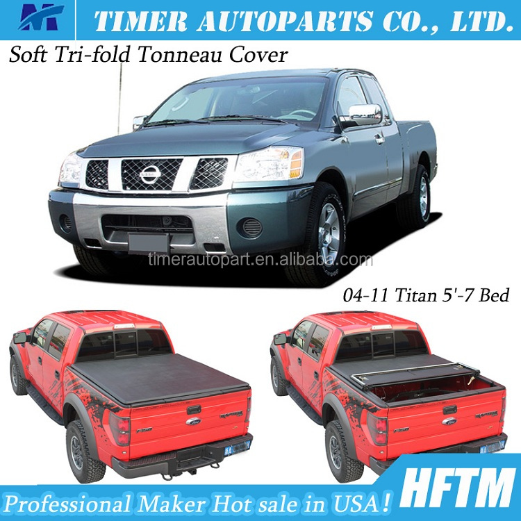custom car accessories for 2004-2011 Titan folding tonneau covers for pickup trucks