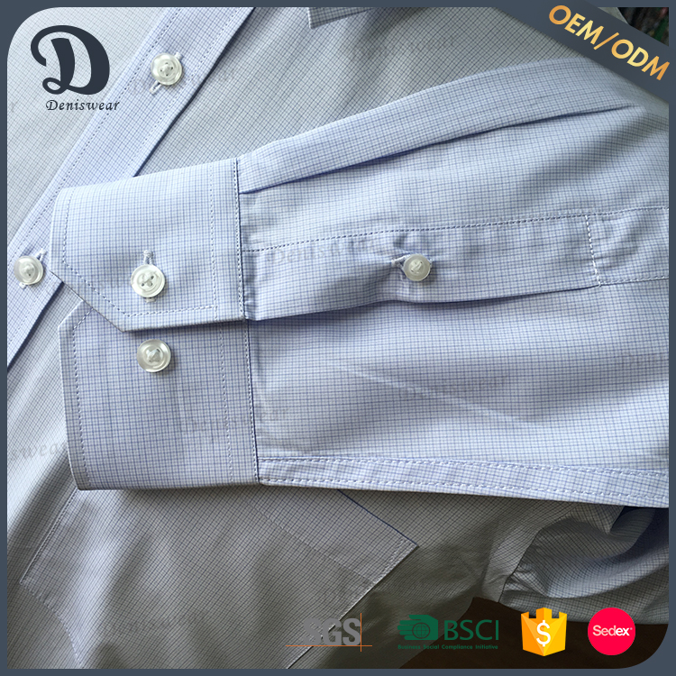 Adults high quality gingham check mens dress shirt