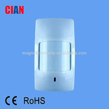 wireless pir sensor/ PIR detectors for home alarm system with CE& ROHS certificate