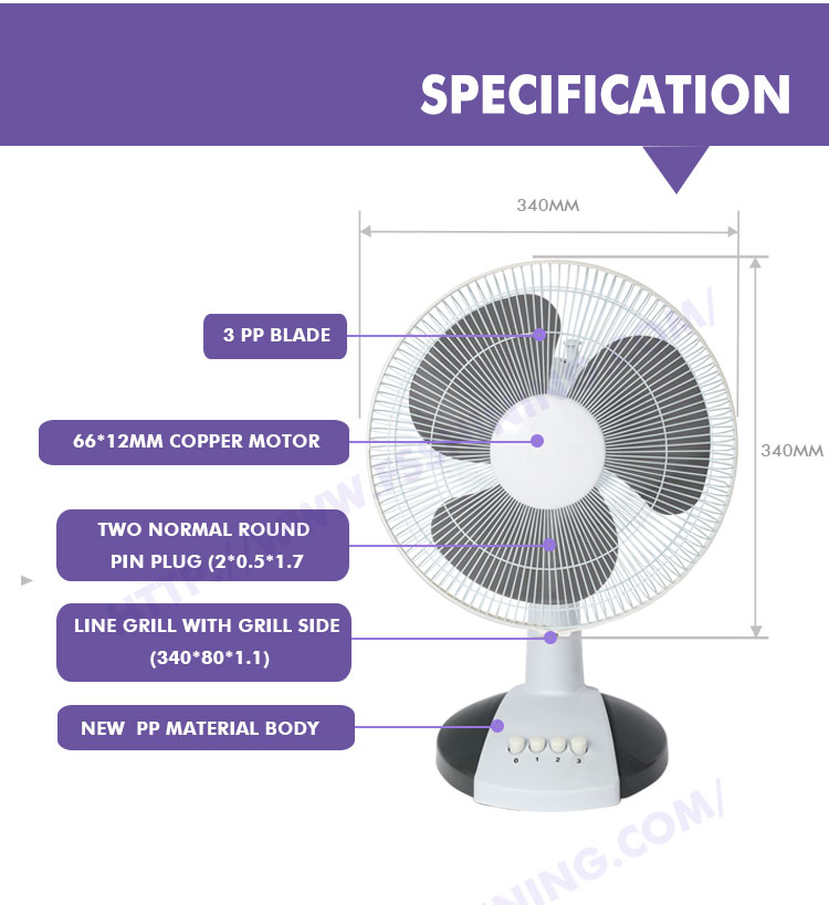 New Products 12 Inch Table Fan With High Quality