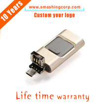 Alibaba hot selling Wholesale bulk price full capacity 3-in-1 iflash usb flash driver 128GB otg usb flash drive for iphone