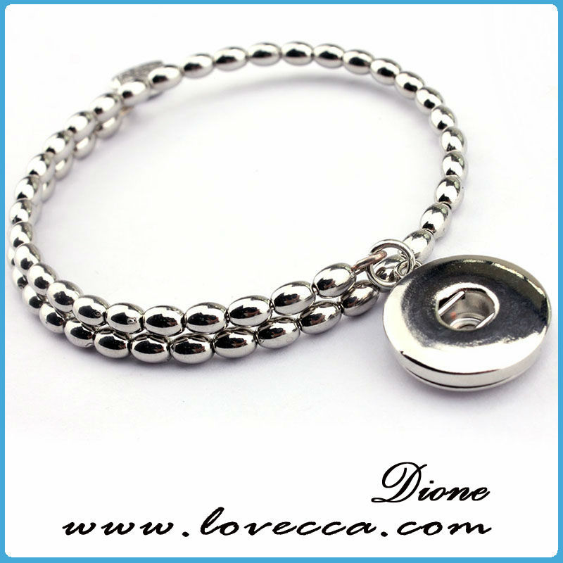 2015 eco-friendly fashion metal beads interchangeable snaps jewelry