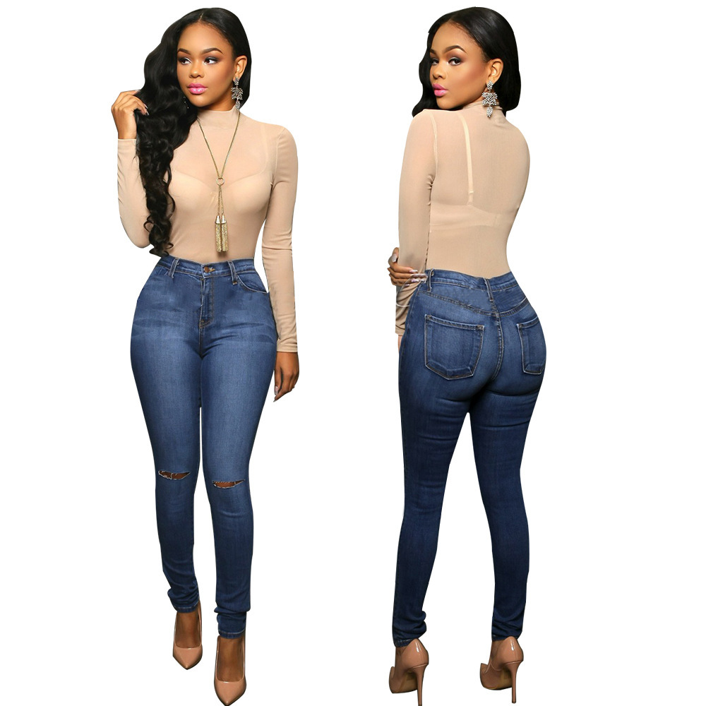 8fec6b53 Venta al por mayor jeans mezclilla para dama-Compre online los ...