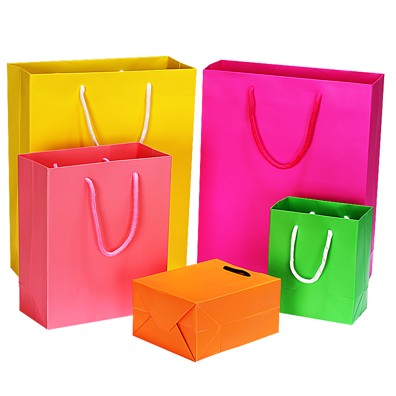 Wholesale lamination heavy-weight paper bags custom made garment bag