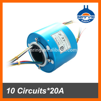 Customized slip ring 10 wires/circuits 20A of conductive slip ring ...