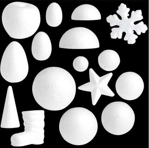 Modelling Polystyrene Christmas Party Decoration White Craft Balls Styrofoam