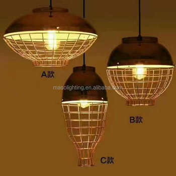 Creative American Rustic Loft Pendant Lamp Industrial Desgned For ...