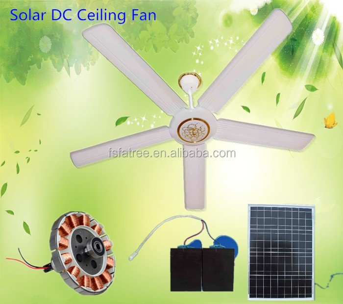 New Rechargeable ceiling fan 12v Solar ceiling fan with lights