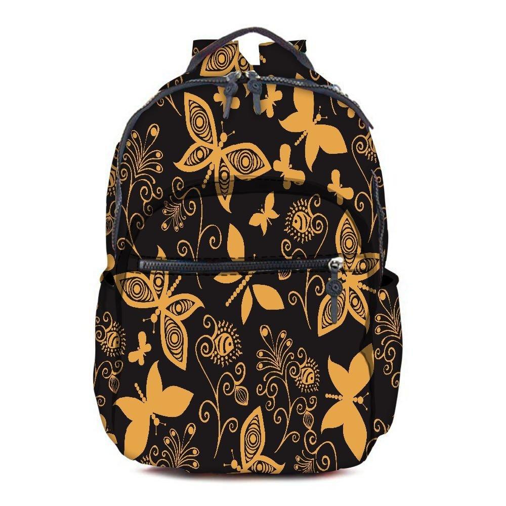 1791036cf72a Get Quotations · Snoogg Golden Butterfly Printed Vintage Durable Canvas  Satchel Backpack Tablet Rucksack Shoulder School Gym Book Bag