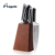 5 pieces Japanese Kitchen Knife Set with Wood Block
