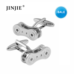 STC020 Silver Bicycle Chain Cufflinks For Men Wedding Business Shirt Accessories