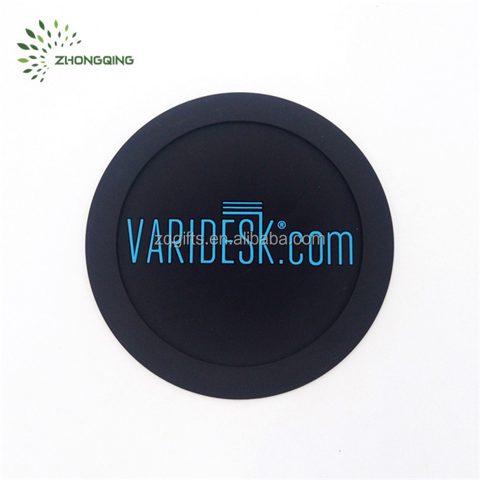 Factory Supply Soft PVC rubber Table Coasters for promotion gifts