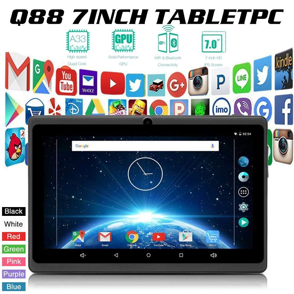 Wholesale WIFI Bluetooth Wireless Android Tablet 7 Inch Q88 Tablet With Built In Camera G-sensor 3G For Kids