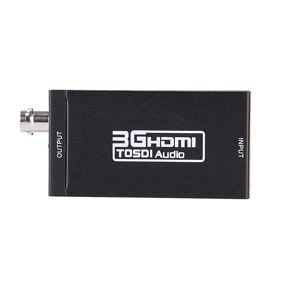 VK HDMI to SDI Video Converter,Huayang BNC 1080P 3G-SDI,720P/1080i HD-SDI,480i/576i SD-SDI Adapter for Camera Home Theater
