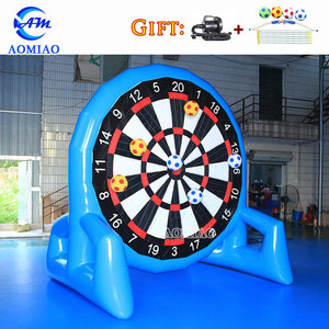 Popular crazy game giant inflatable soccer dart board inflatable foot darts for sale