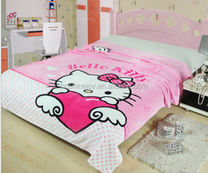 positioning reactive prnting famous cartoon character blankets baby cotton blankets