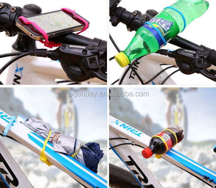 Waterproof Solid non-slip Silicone high elastic band bicycle bike phone holder