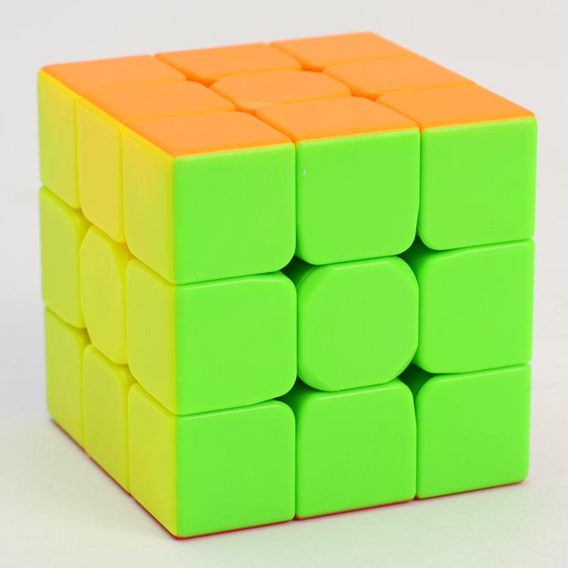 Печатные оптовая продажа QiYi воин W 3x3x3 Цвет stickerless образования Скорость magic puzzle cube кубики игрушечные лошадки для образования детей