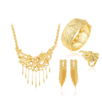 xuping jewelry gold plated brass alloy italian gold jewelry sets for women