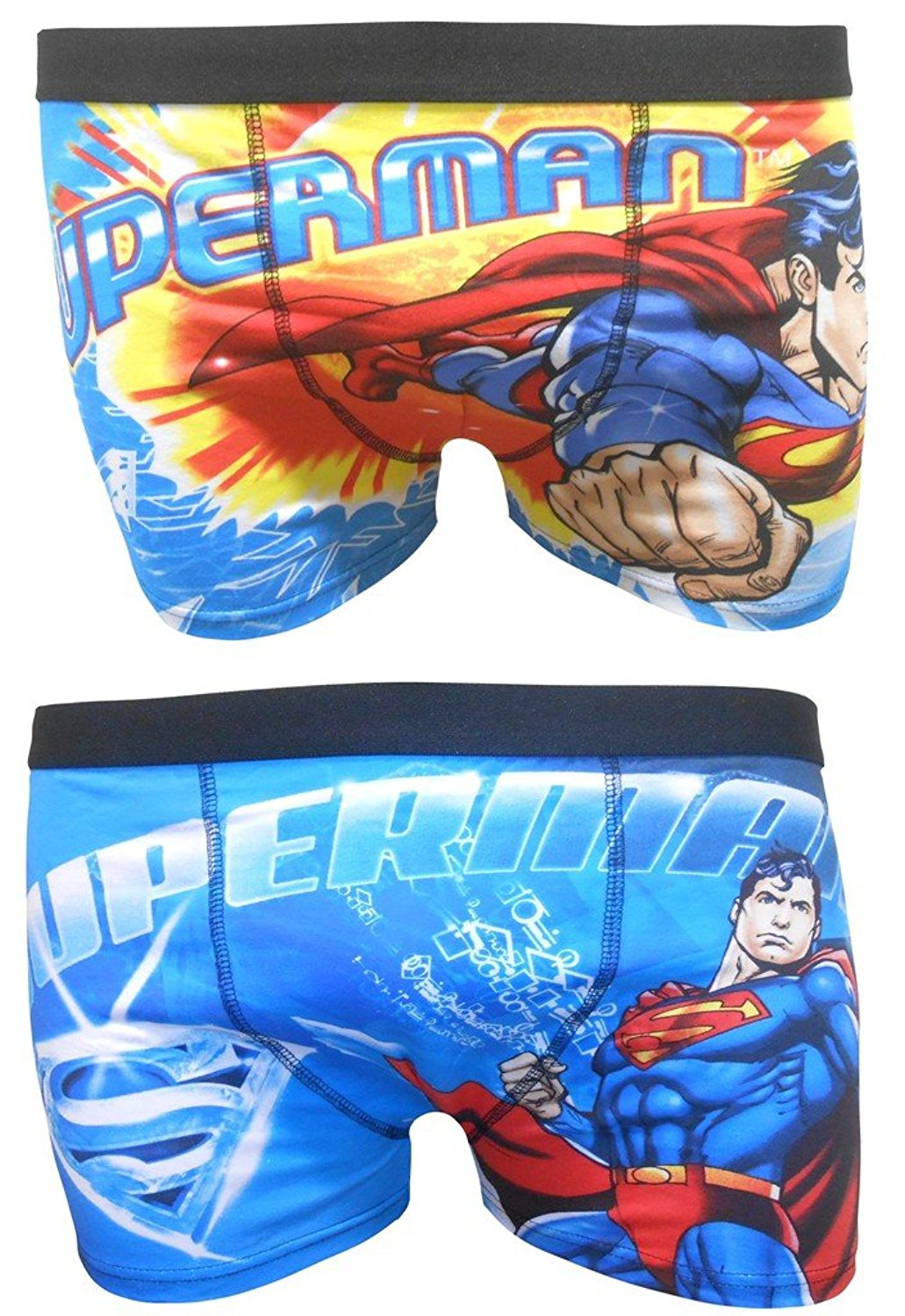 Get Quotations · Superman Superhero Men s Boxer Shorts Two Pack 7f460efff