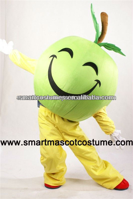 apple mascot costumes adult green apple costume