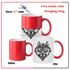Creative designed color changing mug 11 oz matte mug for sublimation