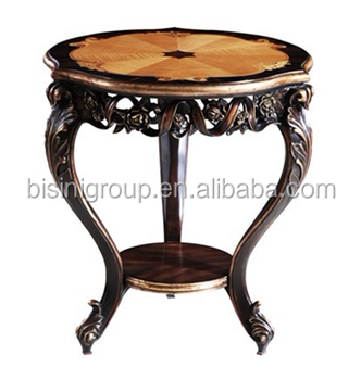 Antique french baroque accent table classic elegant solid - Antique side tables for living room ...