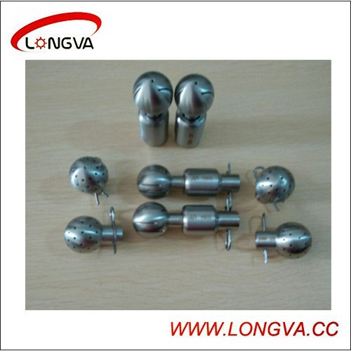 Stainless steel sanitary 360deg fixed bolted cleaning ball