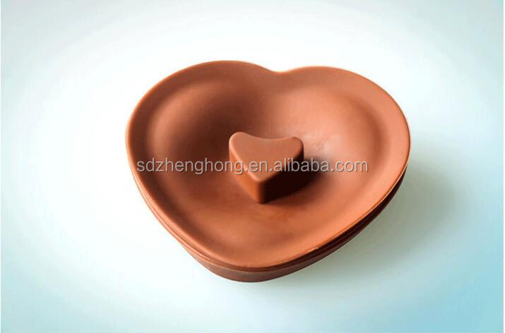Heart shape silicone baby serving salad fruit collapsible bowl mixing soup with lid