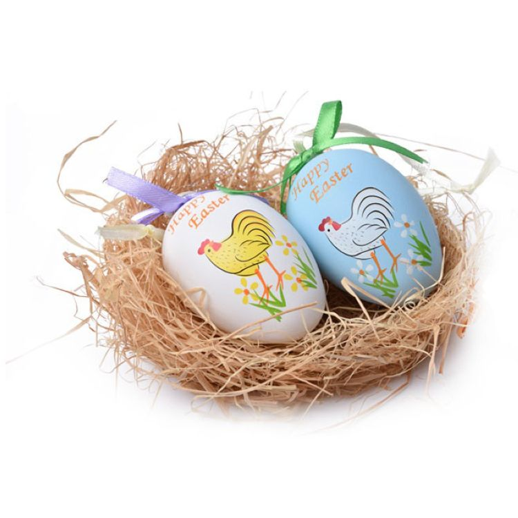 Fashionable printed nice easter eggs plastic,nice easter decoration