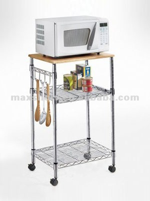 Muebles de cocina estante microondas estanteria con - Estante para microondas ...