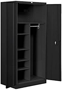 Salsbury Industries Heavy Duty Assembled Combination Storage Cabinet, 78-Inch High by 24-Inch Deep, Black