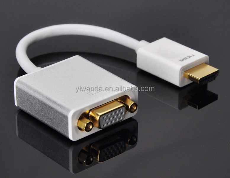 kualitas tinggi hdmi ke adaptor vga converter kabel untuk laptop pc dvd xbox hdtv dukungan audio. Black Bedroom Furniture Sets. Home Design Ideas