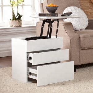 Amazon Living Room Furniture White Sofa Wooden Lift Top Side Table Modern