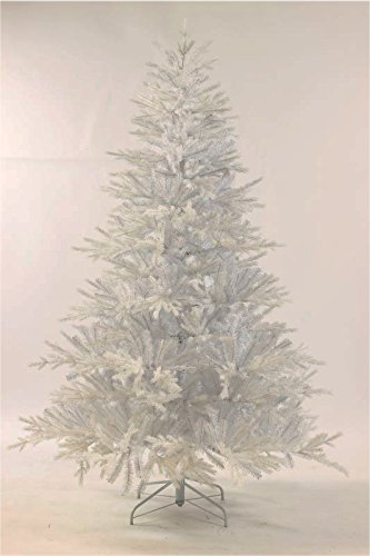 Get Quotations · King Of Christmas 7 Foot Tribeca Spruce WHITE Artificial Christmas  Tree Unlit