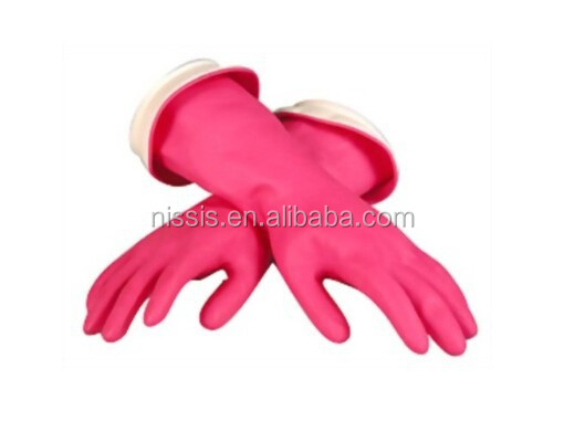 Pink pvc household gloves genearl use for desk TV chair cleaning household cleaning gloves latex