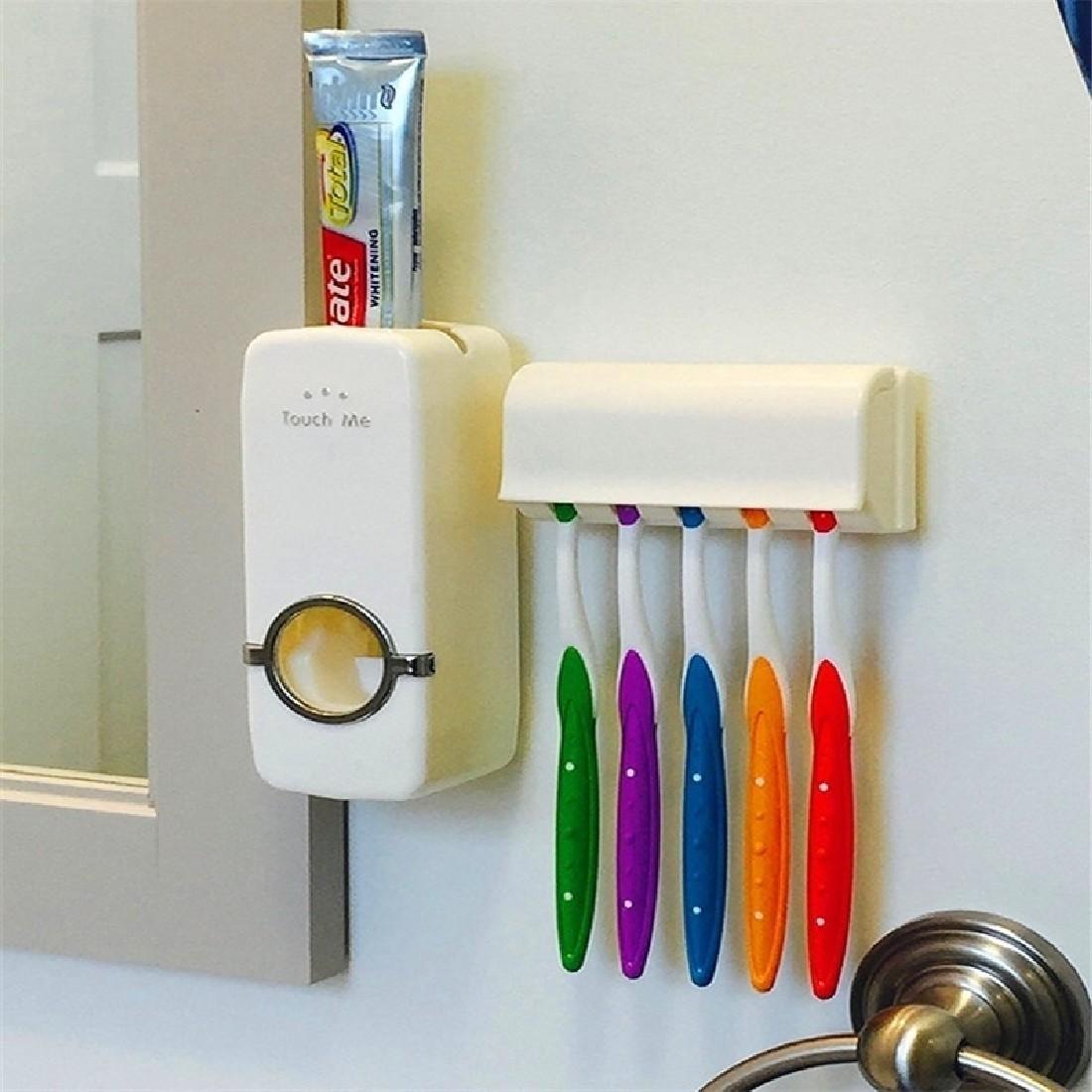 Toothbrush Holder Toothpaste Dispenser