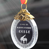 K9 top material wholesale customized crystal glass medals for souvenir gift