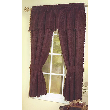 HaiNing JinYongHe beautiful 100% polyester Fancy Curtain Valances
