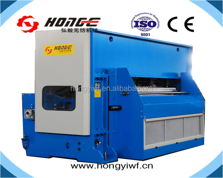 ISO9001 ChangShu Hongyi Nonwoven fiber needle loom suede velour carpet needle punching machine
