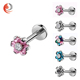Popular 316l surgical steel cz flower Labret Stud