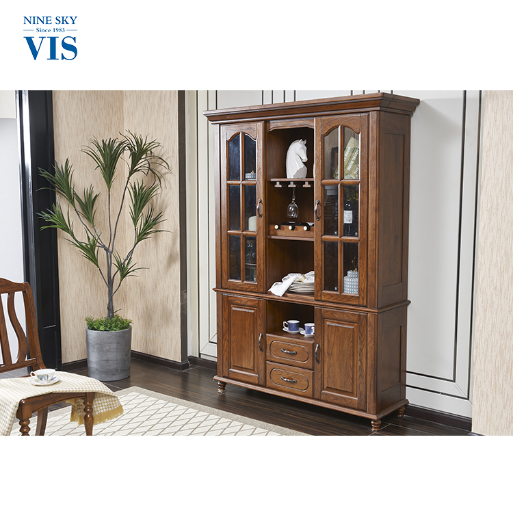 Decorative Solid Wood 3 Doors Home Bar Cabinet/Liquor Cabinet/Bar Cabinets For Home