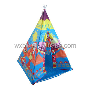 Indoor outdoor pop up camping bambini della tela di canapa indiana kids play tent