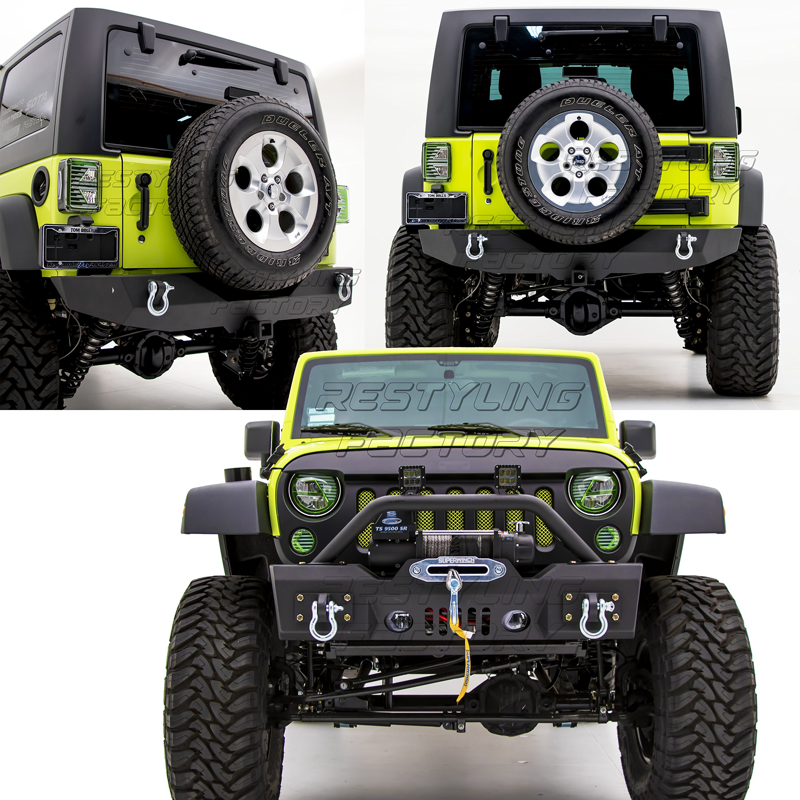 Cheap Jeep Stubby Bumper Mod Find Deals On Winch Rear Wrangler 2008 Get Quotations Restyling Factory 07 16 Rock Crawler Front With Oe Fog Lights