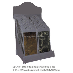 Stone sample rack and sample hand-held plate inserting frame