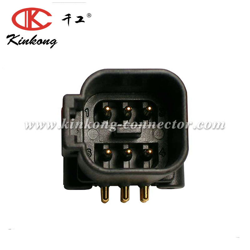 6 pin blade DT connector DTF13-6P-G003