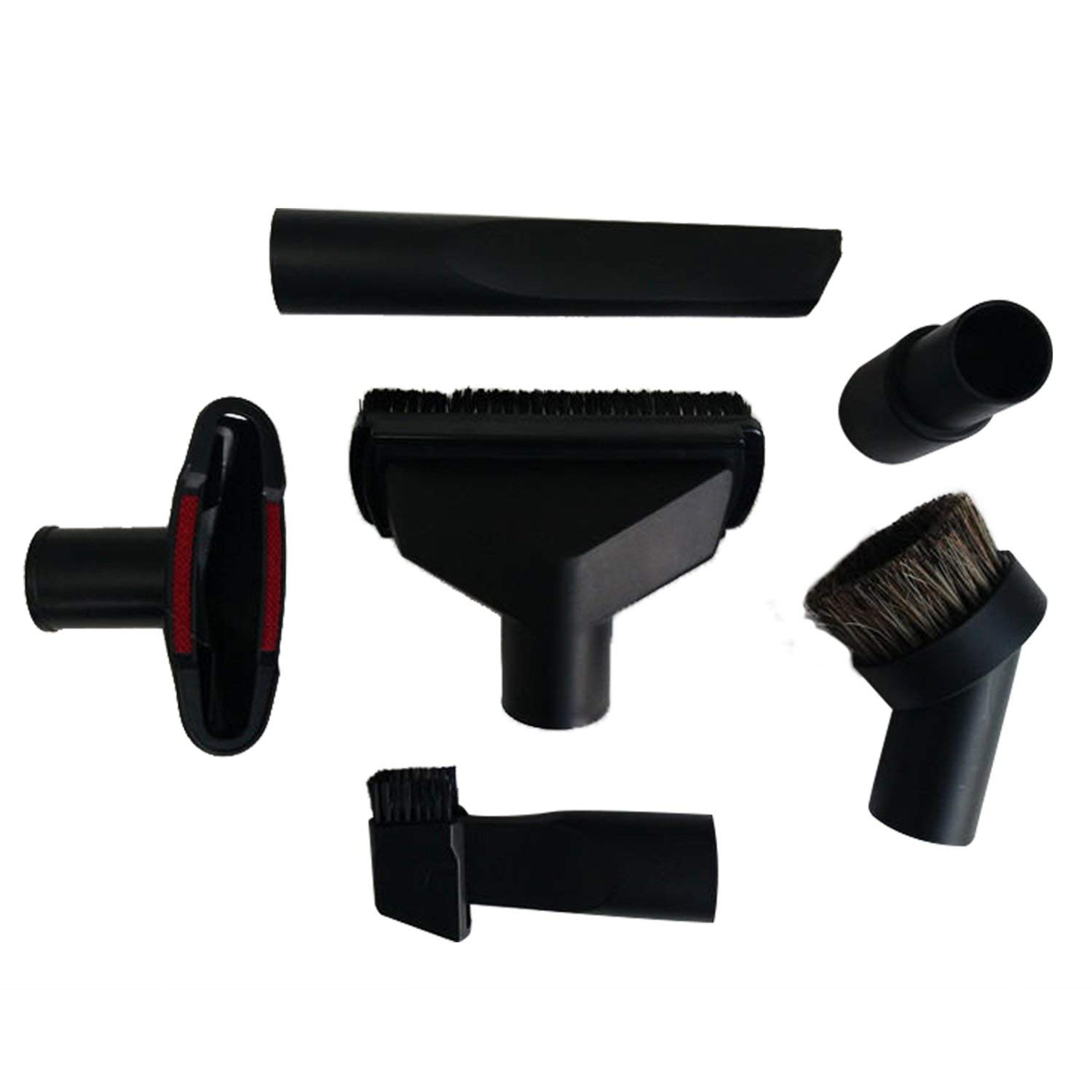 Toogoo Universal Vacuum Cleaner Accessories Cleaning Kit Brush Nozzle Crevice Tool for 32mm& 35mm Standard Hose 6pcs