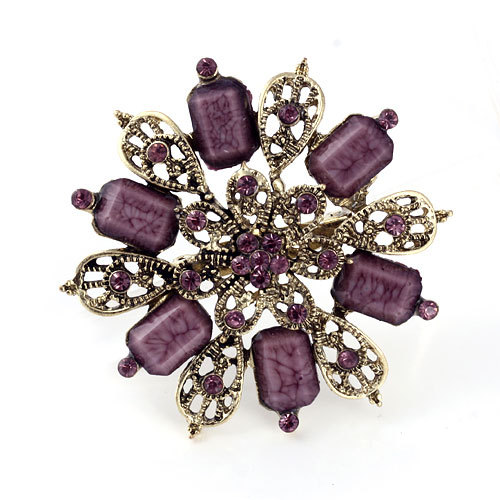 Min.order is $10 (mix order)Vintage Jewelry Flower Brooches Round Brooch pins Free Shipping